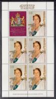 Niue MNH Scott #291 Sheet Of 5 Plus Label $1.10 Queen Mother In Tiara - 80th Birthday - Niue