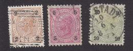 Austria, Scott #52, 54, 58, Used, Franz Josef, Issued 1890 - 1850-1918 Empire