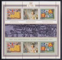 Niue MNH Scott #221 Sheet Of 6 Plus Label $1.10 Queen Elizabeth II's Coronation 25th Anniversary - Niue