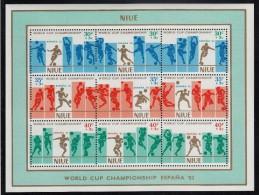 Niue MNH Scott #B51 Sheet Of 9 Soccer Players - Niue