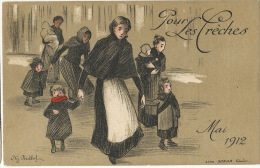 Geneve  Pour Les Creches Mai 1912 Illust Perillol Litho Sonor Geneve - GE Geneva