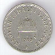 UNGHERIA 10 FILLER 1909 - Hongrie