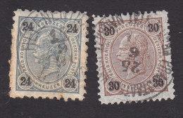 Austria, Scott #59, 60, Used, Franz Josef, Issued 1890 - 1850-1918 Empire