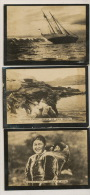 Set Of 5 Pictures Walrus Fishing, Eskimos Polar Sailing Boat Serie 5 Photo Morse Polaire - Groenland