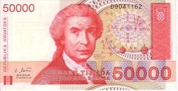 CROATIE   50 000 Dinara  Emission De 1993     Pick 26 A        ***** BILLET  NEUF ***** - Croatia