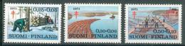 Collection FINLANDE ; FINLAND ; 1971 ; Lot 18 ; Y&T N° 651 à 653 ;  Neuf - Neufs