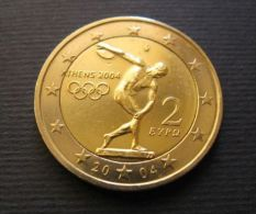 """GREECE 2 EURO Coin 2004 """" Olympic Games In Athens 2004 """" UNC - Greece"""