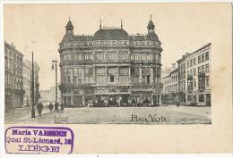 Liege Place Verte Taverne Gruber Timbrée Liege 1900 - Liege
