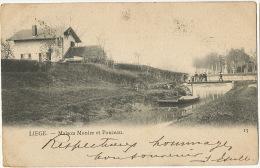 Liege  Maison Monier Et Ponceau No 13 Timbrée 1905 - Liege