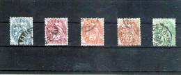 1900 - BLANC  Mi No86/90 Et Yv 107/111  Serie Complete - France