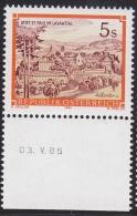 "1985, Unteres Randstück ""Stifte U. Klöster 5.00 S M. Druckdatum"", Postfr., ** - 1981-90 Nuovi & Linguelle"