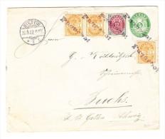 """Dänemark 5 Ö GS Brief Mit 15 Ö Zusatzfrankatur Schiffsstempel """"PAQUEBOT"""", über Stettin Nach Buchs Schweiz - 1864-04 (Christian IX)"""