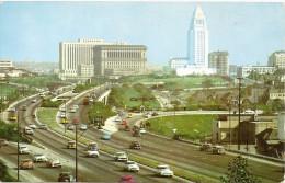 CALIFORNIA-LOS ANGELES:  POSTCARD HOLLYWOOD FREEWAY LOOKING TOWARDS CIVIC CENTER. GECKO.
