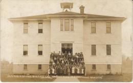 Hubbard Oregon, Public School Building Students In Front C1910s Vintage Real Photo Postcard - Andere