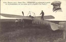 Militaria - Guerre 1914 - Dans L'Est, VEDRINES Se Préparant à Partir En Reconnaissance Sur Son Avion Baptisé La Vache - Equipment
