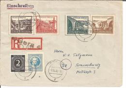 SBZ025/ Thühringen 98BX, 112-15. Einschreiben Ex GERA 7. 10. 46 - Zone Soviétique