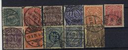 Deutsches Reich Dienst Michel No. 23 - 33 gestempelt used