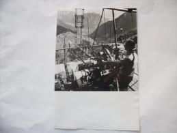 FOTO BERGAMO VAL PAGHEROLA COMUNE DI VALGOGLIO ATTREZZATURA DI PERFORAZIONE  ENI ANNI 70 ORIGINALE - Non Classés