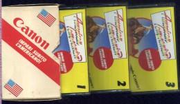 CANON AMERICAN COMPANION CORSO AUDIOATTIVO DI INGLESE-AMERICANO TRE CASSETTE IN COFANETTO NUOVE - Cassette