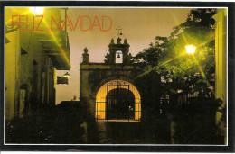 PUERTO RICO- SAN JUAN:  POSTCARD CHAPEL OF THE CHRIST OF GOOD HEALTH. CAPILLA DE CRISTO DE LA SALUD. GECKO. - Postkaarten