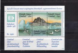 GREENLAND - GRONLANDS - GROENLANDIA - GRØNLAND 1987 HAFNIA 87 Stamp Exhibition PHILATELIC SHEET FOGLIETTO  MNH - Blocks & Sheetlets