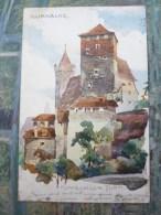 Franz Schmidt Nurnberg Funfeckiger Turm - Künstlerkarten
