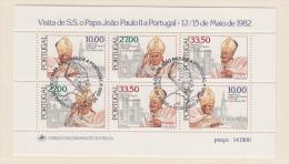 PORTUGAL USED MICHEL BL 36 POPE JOHN-PAUL - Blocs-feuillets