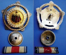 YUGOSLAVIA ORDER OF BROTHERHOOD AND UNITY WITH SILVER WREATH FIVE TORCH SMALL NUMBER 2252 + - Medals