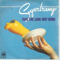 """45 Tours SP - SUPERTRAMP   -  AM 7646  """" TAKE THE LONG HOME  """" + 1 - Otros - Canción Inglesa"""