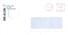 Frankreich Lille Moulins TGST 2001 Stadtverwaltung - Poststempel (Briefe)