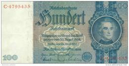 Deutschland, Germany - 100 Reichsmark, Ro. 176 A , ( Serie C/C ) 1936 - 1948 ! - [ 4] 1933-1945 : Terzo  Reich