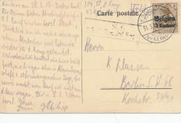 134/22 - Carte TP Germania KD Felpoststation 1915 Vers BERLIN - Origine Manuscrite ROULERS - Esercito Tedesco