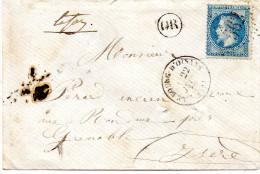 G C 562 LE BOURG D'OISANS Sur N° 29; LSC Du 22 Juin 1870 - Postmark Collection (Covers)