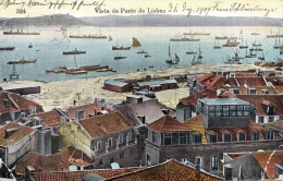 Portugal,Vista Do Porto De LISBOA,gelaufen 1909 - Portugal