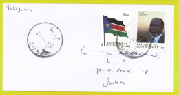 ZUID SOEDAN - South Sudan First Set On Cover : 1SSP Flag And 3.5 SSP Dr John Garang FS2 - Sudán Del Sur