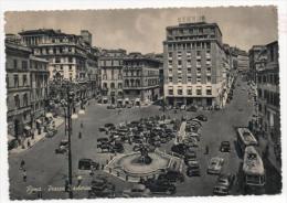 ITÁLIA - Roma Bella Cartolina Da Piazza Barbarini , Con Vecchie Auto. - Orte & Plätze