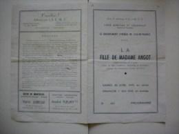 VERSAILLES LIGUE MARITIME ET COLONIALE LE GROUPEMENT LYRIQUE PRESENTE LA FILLE DE MADAME ANGOT 1949 - Programme