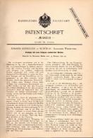 Original Patentschrift - Johann Honegger In Schönau B. Lörrach , 1890 , Krempel Für Spinnerei , Spinnrad !!! - Historische Dokumente