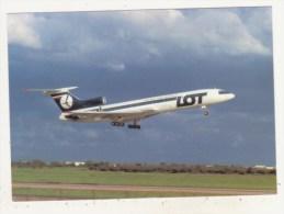 AVIATION - PARIS ORLY - JUILLET 1987 - CPM - LOT POLSKIE LINIE LOTNICZE - TUPOLEV 154M - SP-LCA Cn 727 - - 1946-....: Moderne