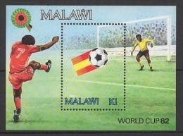 Malawi (1982) Yv. Bf. 60  /  Soccer - Futbol - Calcio - Football - FIFA World Cup Spain - Coupe Du Monde