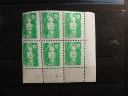 COIN DATÉ NEUF DE 6 TIMBRES+ MARIANNE DU BICENTENAIRE+1995 + - 1990-1999