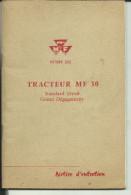 CATALOGUE TRACTEUR MASSEY FERGUSON 62 PAGES - Tracteurs