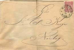 1879  Beleg Von Mannheim Nach Nurnberg  MiNr 33b - Deutschland