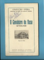 O CAVALEIRO DA ROSA ( STRAUSS ) - Ópera De Viena - 1954 - Colecção ÓPERA N.º 70 - With AUTOGRAPH - See Scans - Livres, BD, Revues