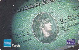 Carte Prépayée Japon - BANQUE CREDIT AMERICAN EXPRESS -  Bank Note Money Japan Tosho Card - Coin 78 - Timbres & Monnaies