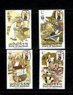 Bahrain 1981 Sc # 282 / 285  MNH **  Stone Cutting - Bahreïn (1965-...)