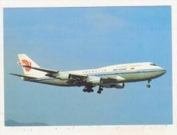AVIATION - HONG KONG KAI TAK - OCTOBRE 1990 - CPM - AIR CHINA - BOEING 747-4J6 (SCD) - B-2460 Cn 24348 - - 1946-....: Moderne