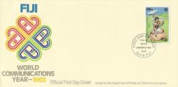 Fiji 1983 World Communications Year FDC - Fiji (1970-...)