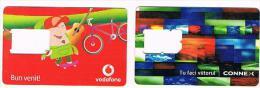 ROMANIA  - VODAFONE / CONNEX   (GSM SIM) -  LOT OF 2 DIFFERENT     - USED  -  RIF. 3389 - Romania