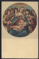 WB756 BOTTICELLI - LA VERGINE COL BAMBINO E GLI ANGELI - Quadri, Vetrate E Statue